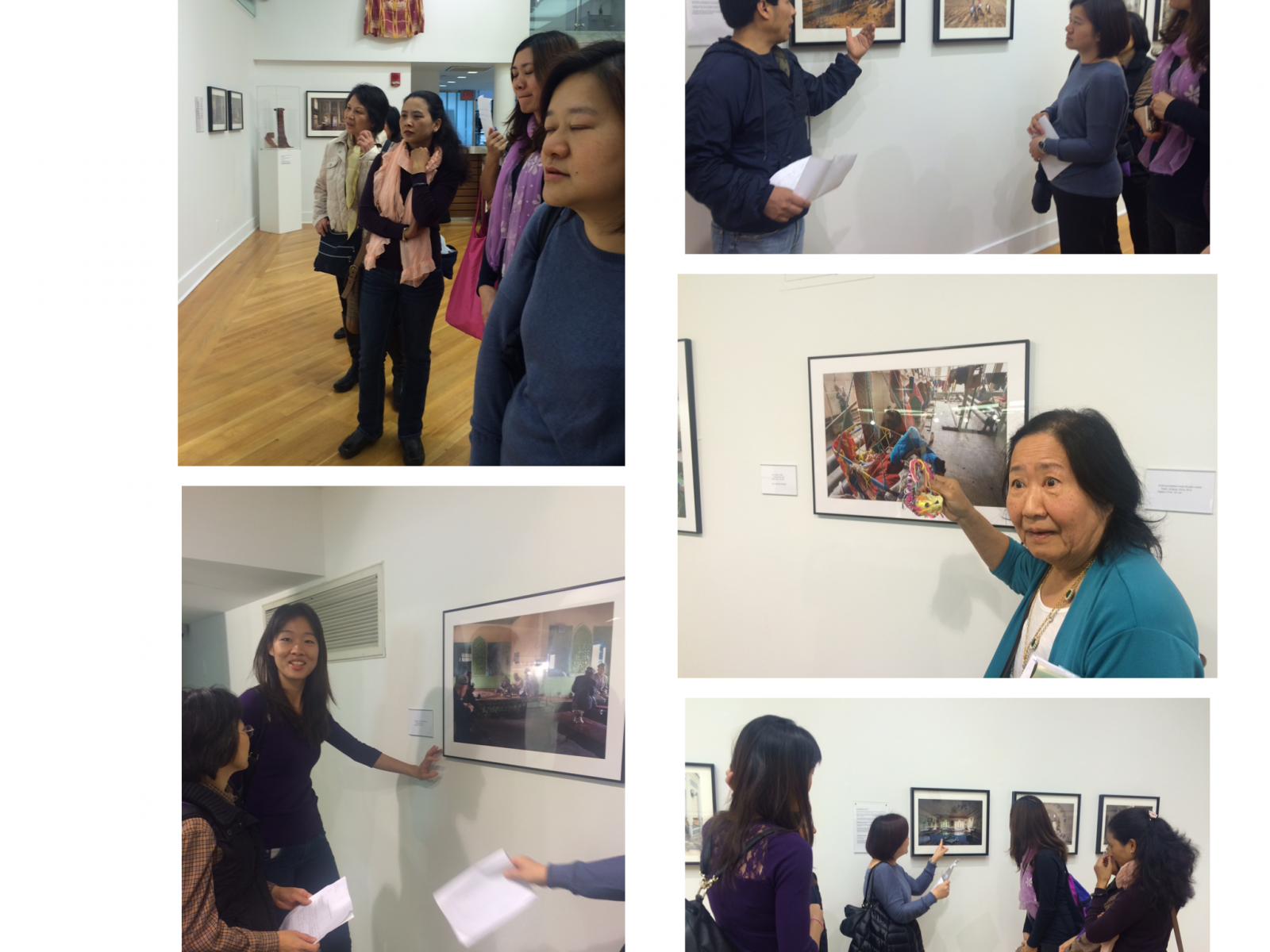 Students share their research when they return to exhibition for a second time.